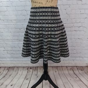 Cynthia Rowley Black and White XS Skirt